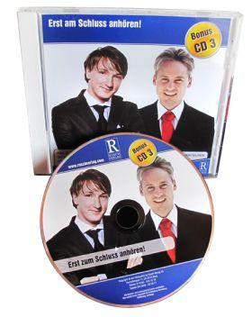 Eine Talk-CD mit Alex S. Rusch und Ferris Bühler (Spieldauer 67 Min.)